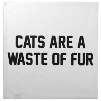 Cats Waste of Fur Napkin