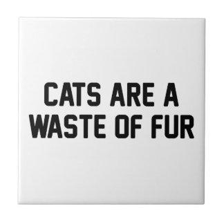 Cats Waste of Fur Tile