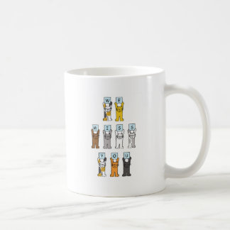Cats we miss you, cartoon cats. coffee mug