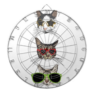 Cats Wearing Sunglasses Dartboard