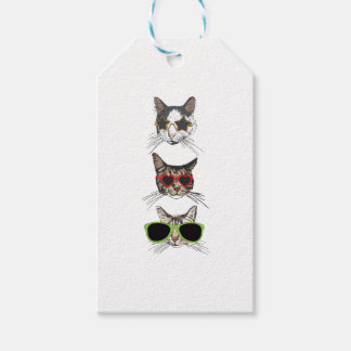 Cats Wearing Sunglasses Gift Tags