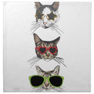 Cats Wearing Sunglasses Napkin
