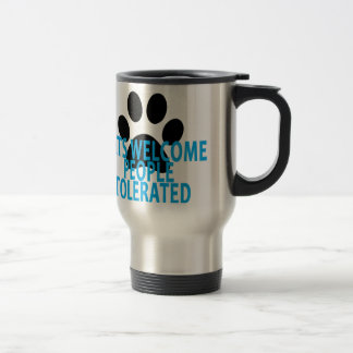Cats Welcome People Tolerated T-Shirt . Travel Mug