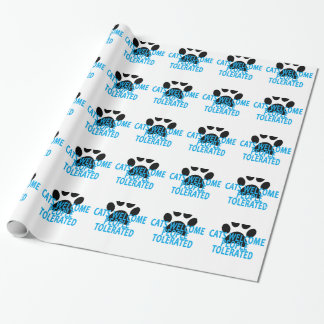Cats Welcome People Tolerated T-Shirt . Wrapping Paper
