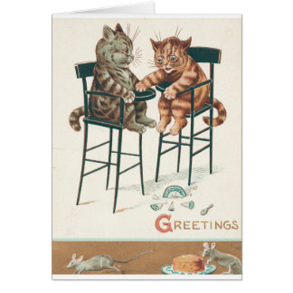 Cats with Mice & Cheese Card