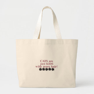 Cats with more Hair Jumbo Tote Bag