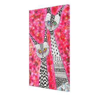 """Cats Wrapped Canvas - 24"""" x 16"""""""