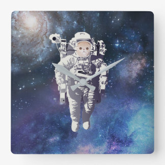 Catstronaut - Cat in Space Square Wall Clock