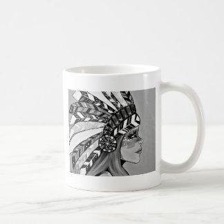 Cattail Kali BW Coffee Mug