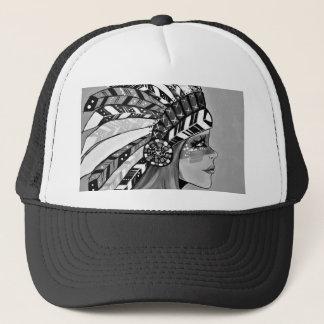 Cattail Kali BW Trucker Hat