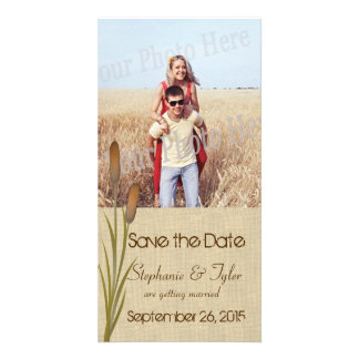 Cattail Lake Save the Date Customized Photo Card