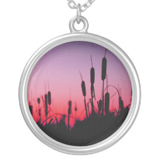 Cattails in the sunset pendants