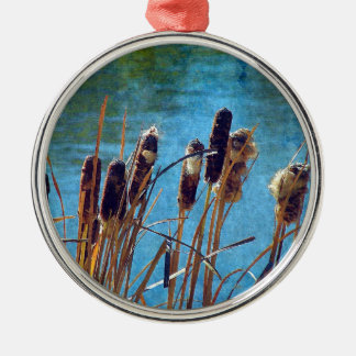 Cattails on the Pond Metal Ornament