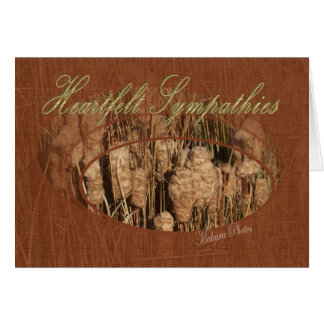 Cattails-Sympathy-customize Card