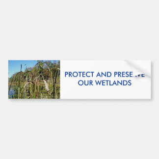 Cattails WETLANDS Bumper Sticker