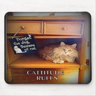 Cattitude Rules Mouse Pad