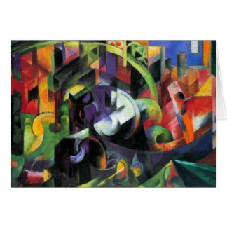 Cattle by Franz Marc, Vintage Abstract Fine Art Card