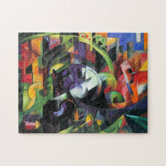 Cattle by Franz Marc, Vintage Abstract Fine Art Puzzles