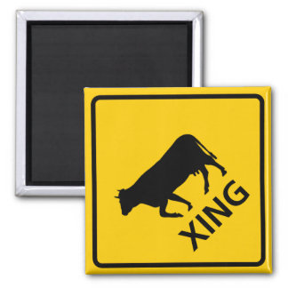 Cattle Crossing Highway Sign Magnet