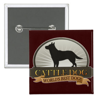 Cattle Dog 15 Cm Square Badge