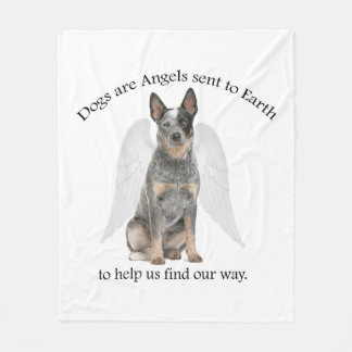 Cattle Dog Angel Fleece Blanket