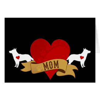 Cattle Dog Mom [Tattoo style] Card