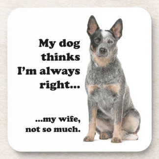 Cattle Dog v Wife Coaster Set