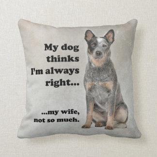 Cattle Dog v Wife Pillow
