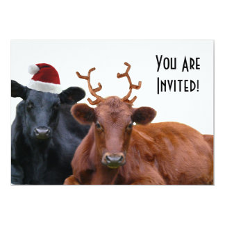 Cattle Farm Staff Christmas Party Invitations