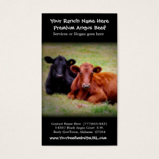Cattle Farming Beef Ranch Business Card