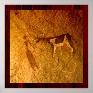 Cattle in Prehistoric Life Poster