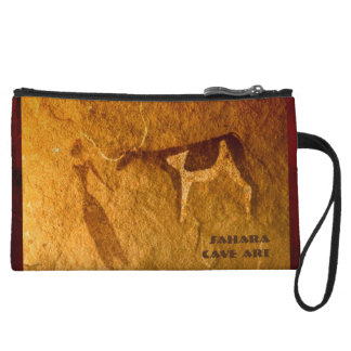 Cattle in Prehistoric Life Wristlet Purse