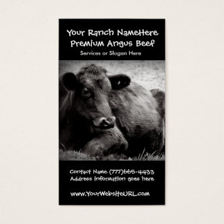 Cattle Ranch or Farm Beef Business Business Card
