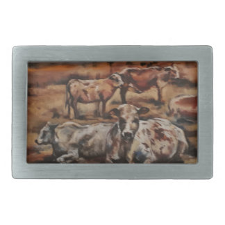 Cattle Rectangular Belt Buckle