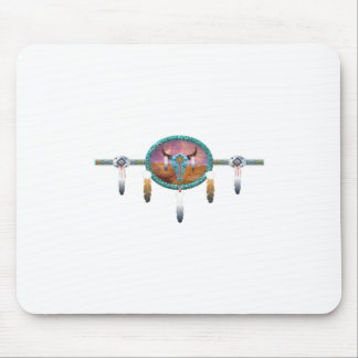 cattle skull mouse pad