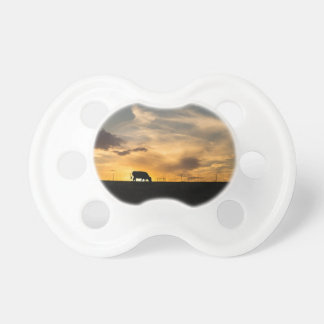 Cattle Sunset Silhouette Baby Pacifier