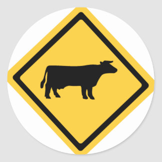 Cattle Symbol Classic Round Sticker