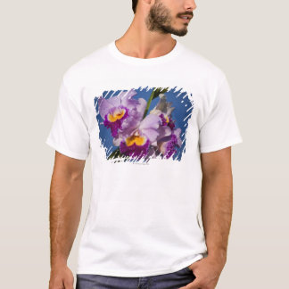 Cattleya Orchid Hybrid With Pacific Ocean T-Shirt