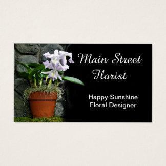 Cattleya Orchid Purple Flowers Business Card