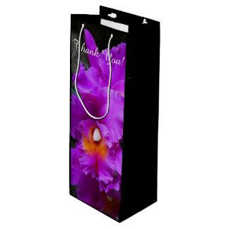 Cattleya Orchid Purple Flowers Wine Gift Bag