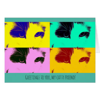 Catty Friend Nine Lives Thinking of You Card