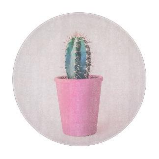 Catus in pink pot cutting board