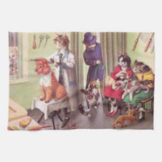 CATWALKS: Bulldog at the Barbers - Tea Towel
