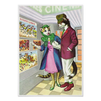 CATWALKS: Cats Night Out   Poster Art - Semigloss