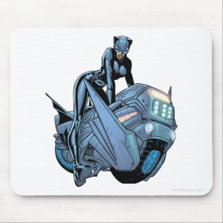 Catwoman and bike mouse pad