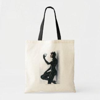 Catwoman Illustration Budget Tote Bag