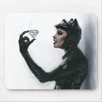 Catwoman Illustration Mouse Pad