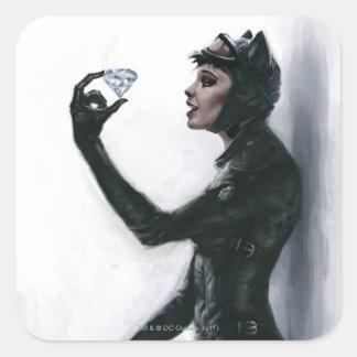Catwoman Illustration Sticker