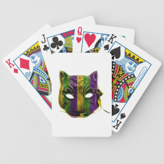 Catwoman Mardi Gras Mask Bicycle Playing Cards