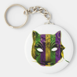 Catwoman Mardi Gras Mask Key Ring